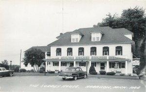 RPPC  HARRISON, Michigan MI ~ SURREY HOUSE  c1950s Cars - Clare County  Postcard