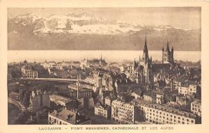 Br33110 Lausanne Cathedrale et les Alpes switzerland