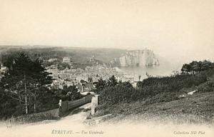 France - Etretat, General View of Village