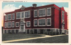 Grammar School, Hightstown, New Jersey, Early Postcard, Unused