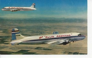Postcard - North American Airlines Douglas Skyliners Two Aircraft in Flight