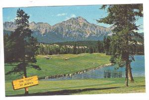 The 16th, golf course at Jasper Park Lodge, Pyramid Mountain, Jasper, Alber...