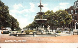 Eulaw Place, Baltimore, Maryland, Early Postcard, Unused
