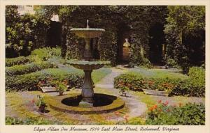 Virginia Richmond Fountain In Enchanted Garden Edgar Allen Poe Museum