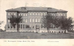 Sioux City Iowa~Morningside College~1906 B&W Postcard