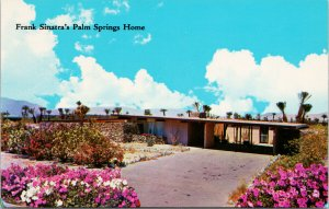 Frank Sinatra House Palm Strings CA Unused Vintage Postcard F65