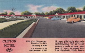 CLEVELAND, Ohio, PU-1957; Clifton Motel