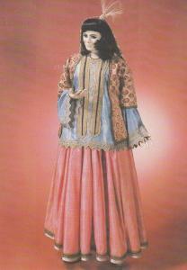 Persian Victorian Costume Waxwork Exhibit London Fashion Postcard