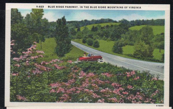 Virginia colour PC Blue Ridge Parkway in  Blue Ridge Mountains unused