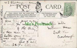 Genealogy Postcard - Hills - Melbourne House, South View, Crowborough RF7791
