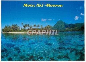 Postcard Modern Motu Ahi Moorea
