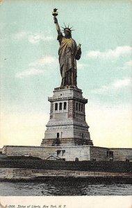 Statue of Liberty New York City, USA Unused missing bottom left corner