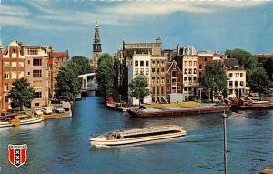 Netherlands Amsterdam Binnen Amstel en Groenburgwal Boats Auto Cars