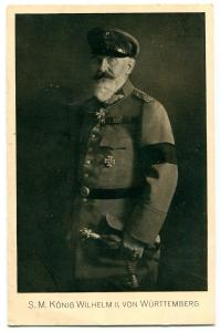 King Wilhelm William II Royalty Wurttemberg Germany 1910s postcard