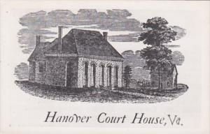 Virginia Hanover Court House Real Photo