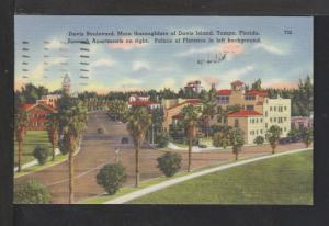 Davis Boulevard,Tampa,FL Postcard