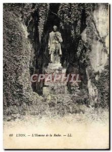Old Postcard Lyon L & # 39Homme De La Roche