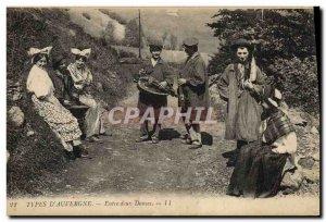 Old Postcard Folklore Auvergne Between dances