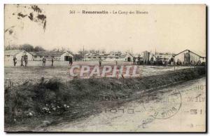Old Postcard Romoratin Camp des Bleuets Army