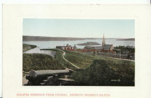 Canada Postcard - Halifax Harbour from Citadel - Showing George's Island   2489