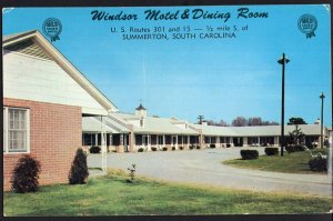 SC SUMMERTON Windsor Motel & Dining Room U.S. Routes 301 and 15 1950s-1970s