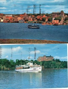 Lake of the Woods Canada Postcards Ontario Cruise Boat Waterfront Kenora