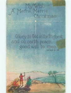 Divided-Back CHRISTMAS SCENE Great Postcard W9499
