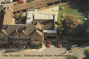 The Trumpet Pub Carvery Wellingborough Road Northampton Advertising Postcard