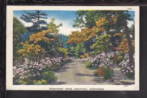 Greetings From Peshtigo,WI Postcard