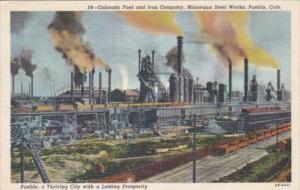 Colorado Pueblo Colorado Fuel and Iron Comapny & Minnequa Steel Works 1946 Cu...