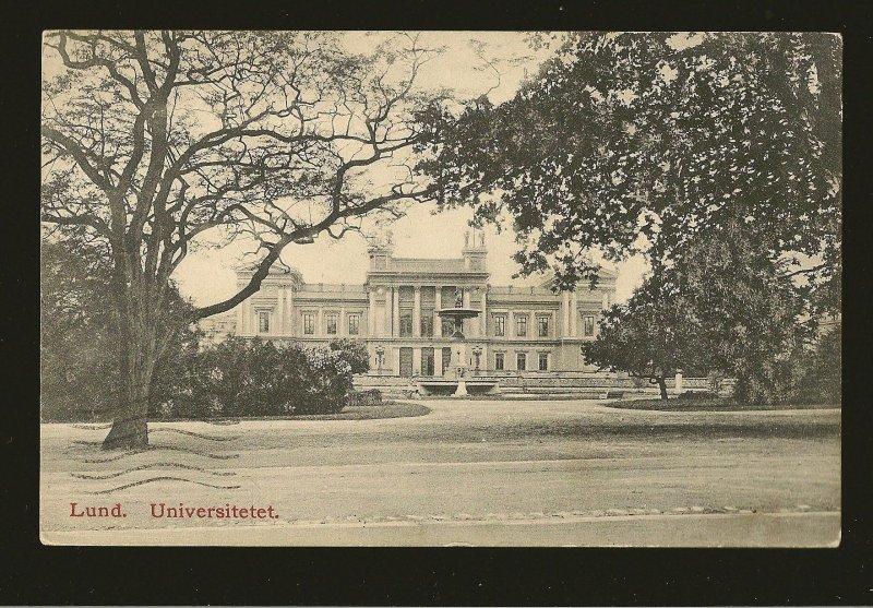 Postmarked 1909 Tonebro Sweden Lund University UPU Photo Postcard