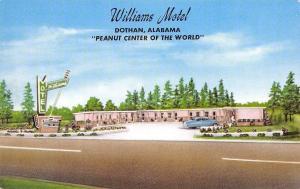 Dothan Alabama~1950s Car @ Williams Motel~Googie Sign~World Peanut Center Claim