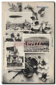 Old Postcard Remembrance Toul balloon airship Zeppelin