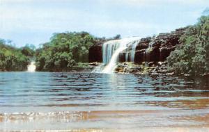 Venezuela Old Vintage Antique Post Card Bolivar State Guayana, Waterfalls Unused