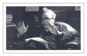 Nostalgia Postcard Herbert Morrison 1944, Labour Party Reproduction Card NS53