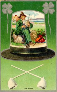 Greeting - St Patrick's Day        (embossed, silver)