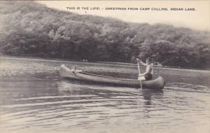Canoeing on Indian Lake at Camp Collins New York