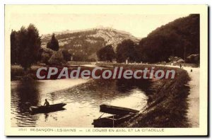 Old Postcard Besancon les Bains Doubs Downstream And The Citadel