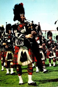 Scotland A Scottish Pipe Band In Full Highland Dress 1975