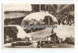 tq1859 - Devon - Multiview x 5, Various Views around Barnstaple c1930s- postcard