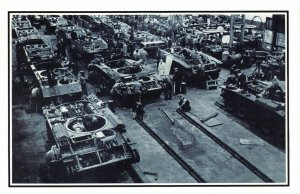 Nostalgia Postcard WW2 1941 Munitions Factory building Tanks Repro Card NS24