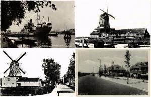NETHERLANDS ZAANDAM MOULINS MILLS 120 CPA pre-1960