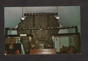 AL Howard's Church Chapel Lookout Mtn Mountain Georgia Postcard Religious PC