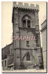 Old Postcard Villeneuve Avignon Church