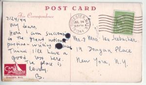 P876 1944 camp amnisquam gloucester mass