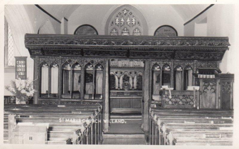 RP: WILLAND , Devon , England , 1966 ; St Marys Church , interior