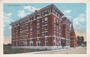 North Carolina Durham Hotel Malbourne 1922
