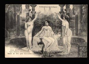 051211 NUDE Belles SLAVES Monte-Carlo Vintage PC