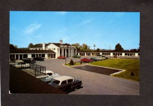 NY Mt Mount Vernon Motel Hotel Albany New York Postcard Old cars