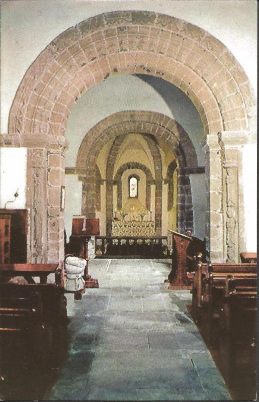 Postcard Chancel Arch & Sanctuary of SS David & Mary Kilpeck Herefordshire